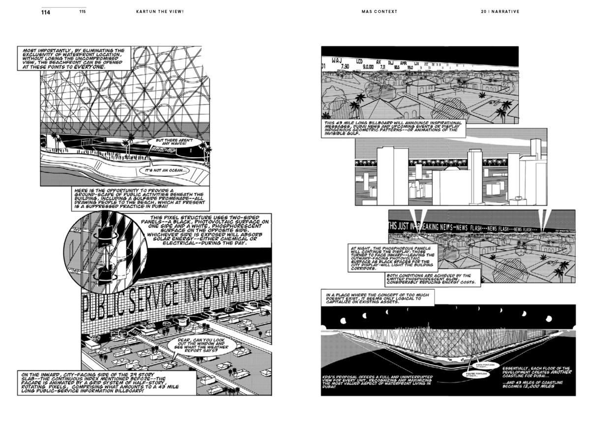 MAS Context Narrative. Kartun: The View! (spread) © MAS Context