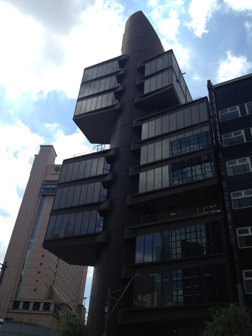 Shizuoka Press & Broadcasting Building By Kengo Tange via John Tubles