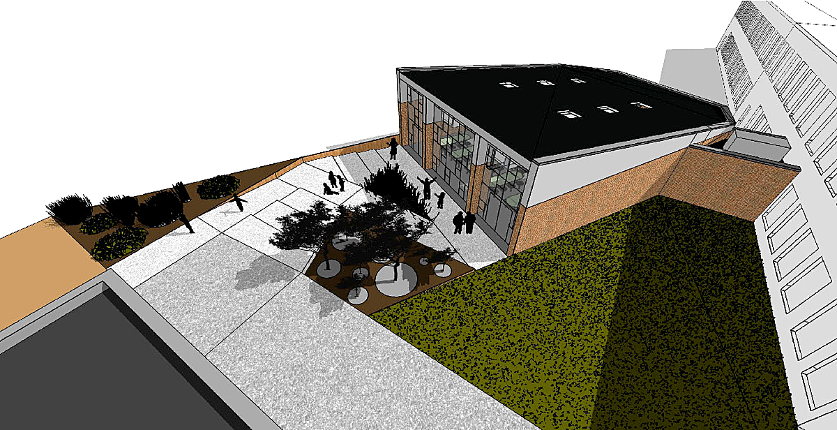 Exterior Entry Ramp / Plaza - Conceptual
