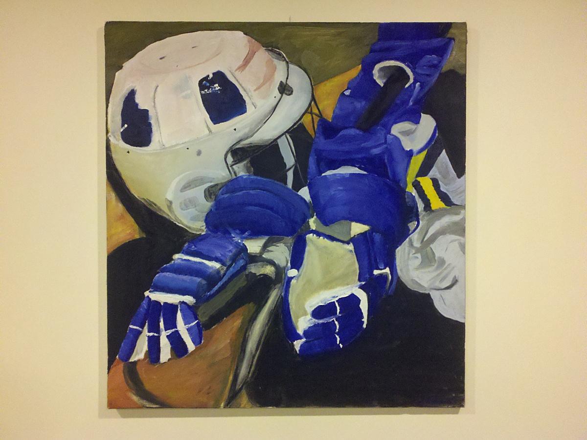 Lacrosse Gear, Oil on Canvas
