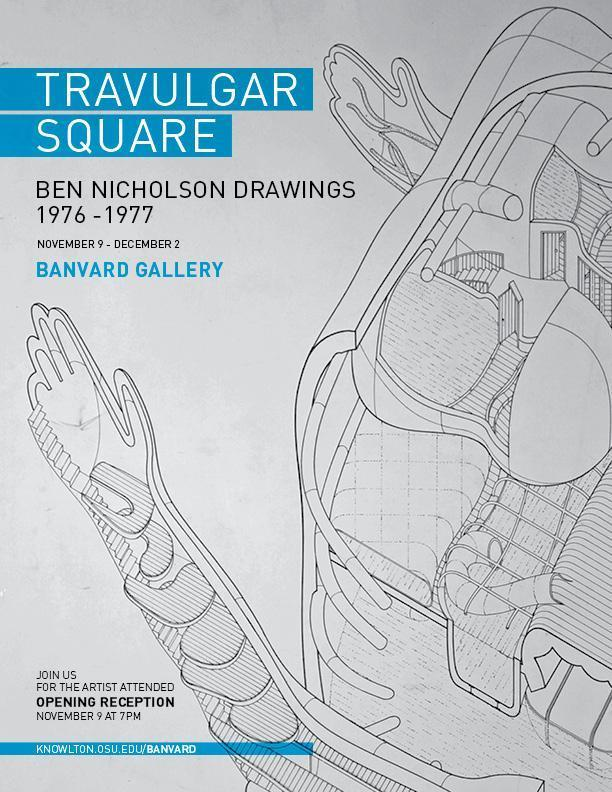 Travulgar Square Ben Nicholson Drawings at Banvard Gallery