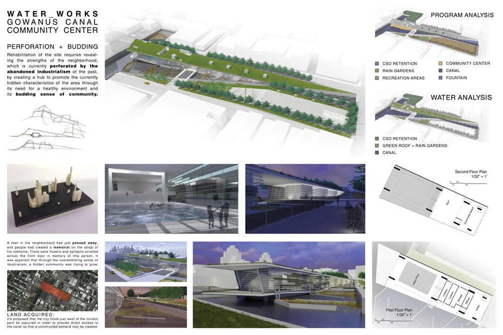 Honorable Mention: Water_Works Gowanus Canal Community Center Joseph Barrick (student); Washington, DC
