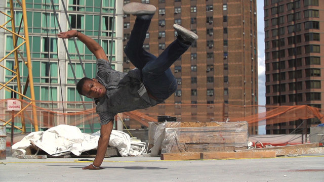 A scene from Skyscape, which will have its world premiere at ADFF 2013. The film features dance performances at NYC construction sites. Photo provided by Novita Communications.