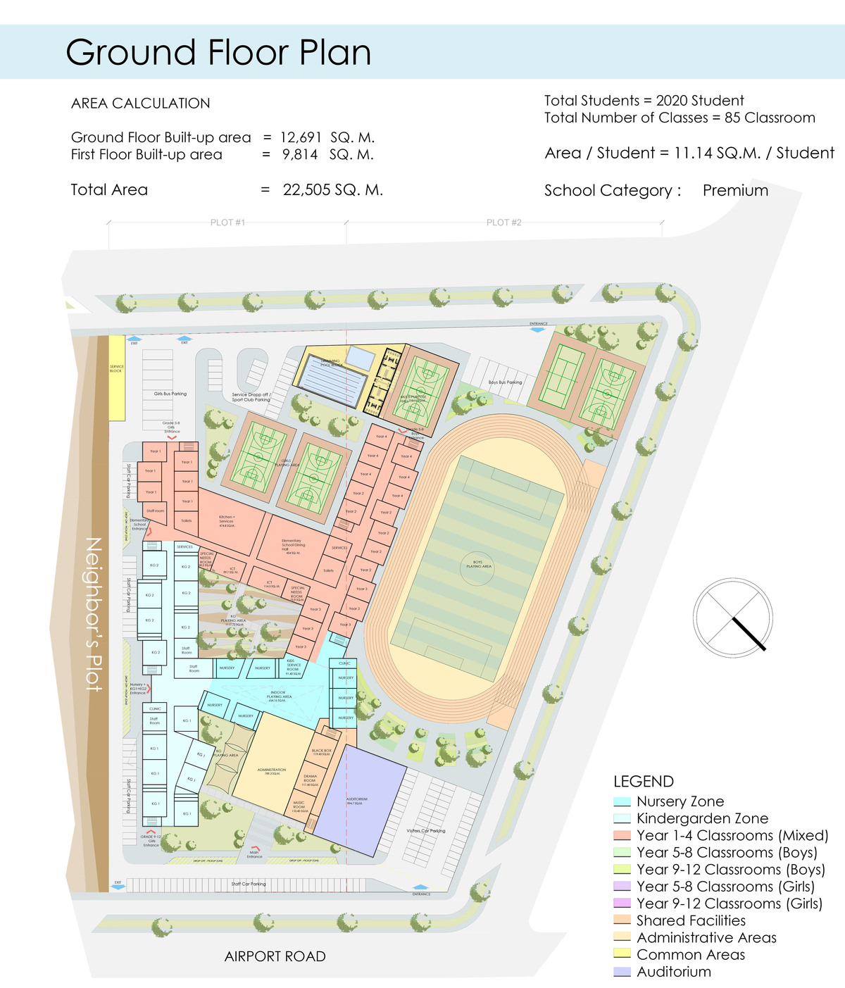 American school uae shanad iqbal archinect for Floor plan project