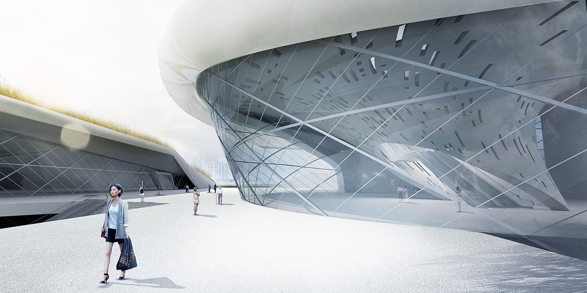 Plaza museum entrance (Image: Patrick Tighe Architecture)