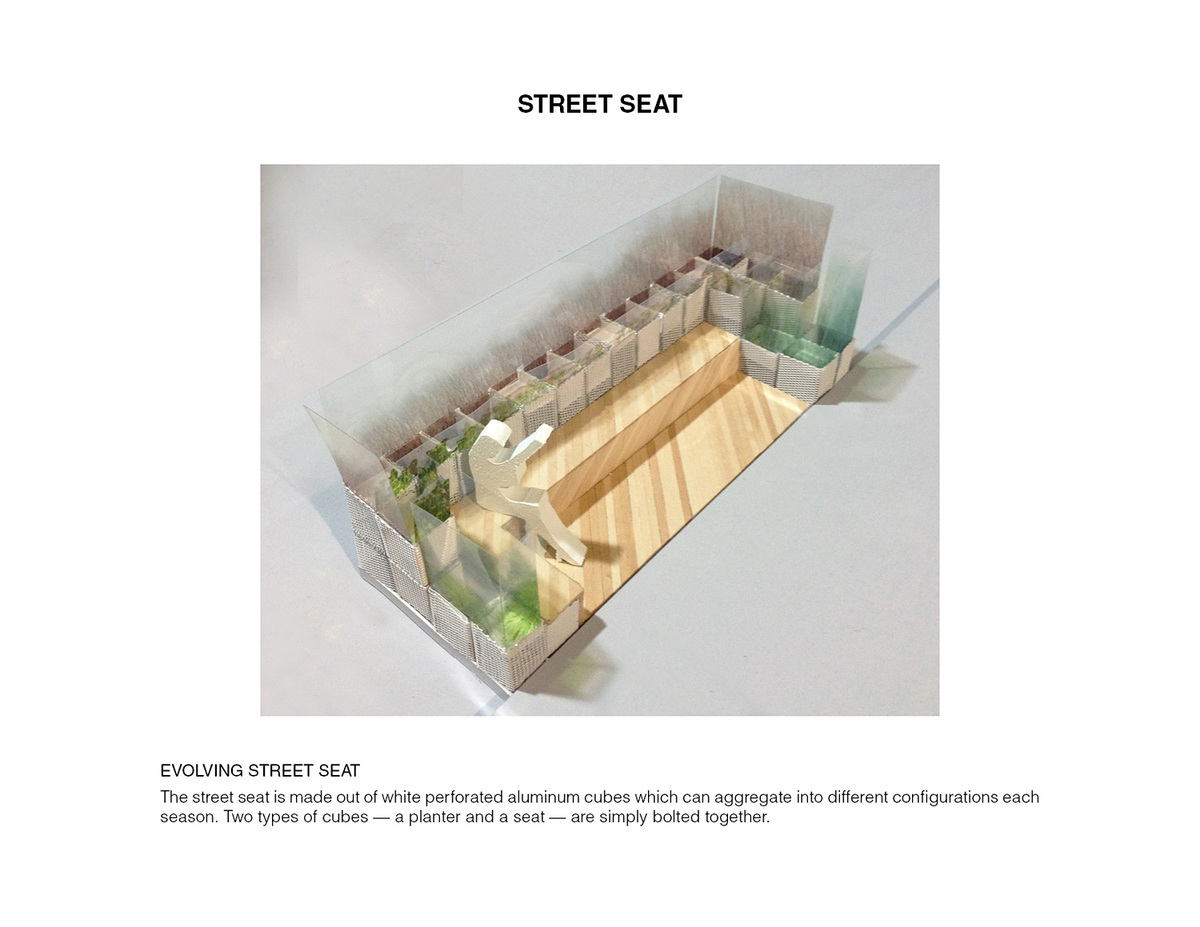 Street Seat. Ground/Work Competition Finalist Entry by Of Possible Architectures. Image courtesy of OPA.
