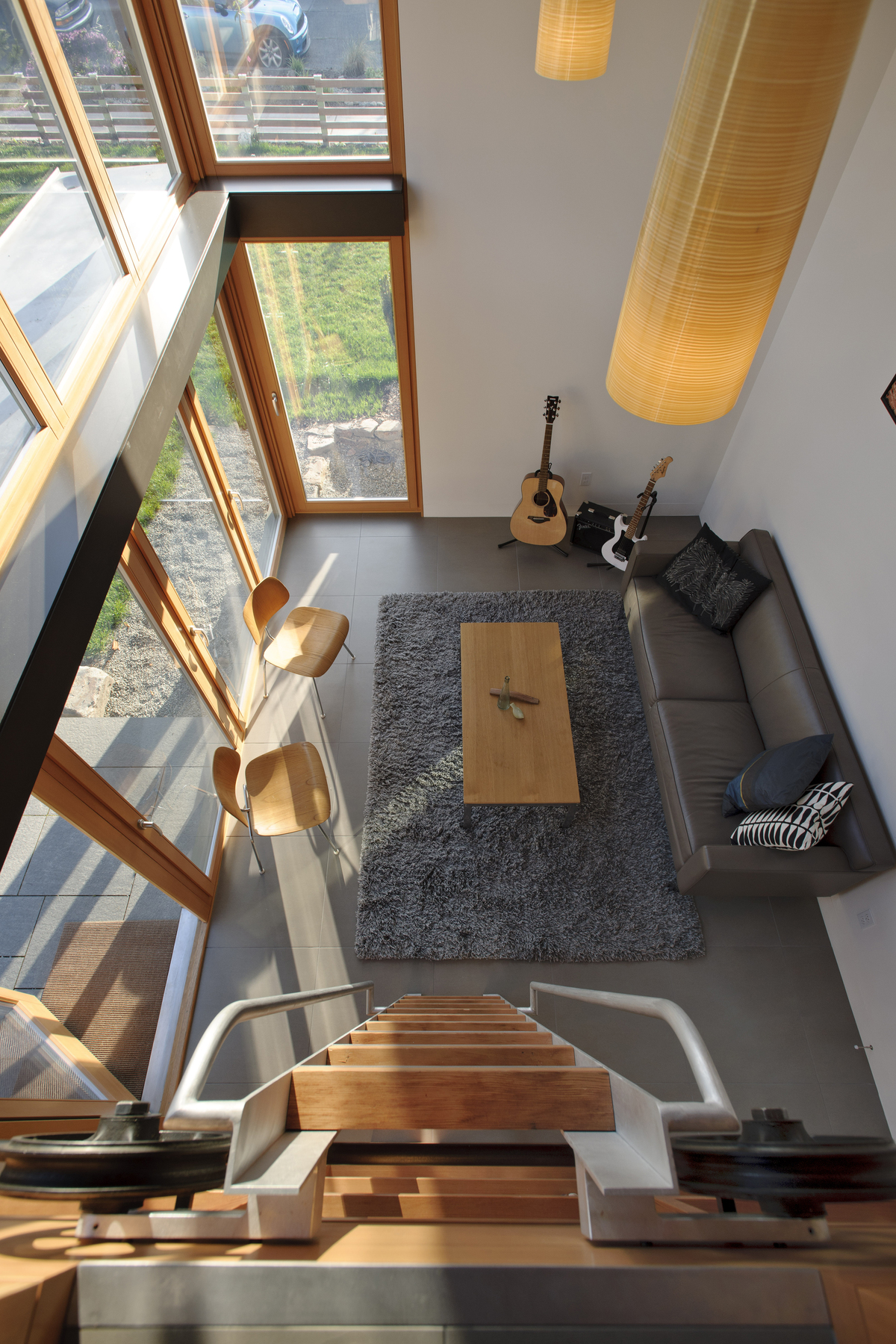 From the loft area