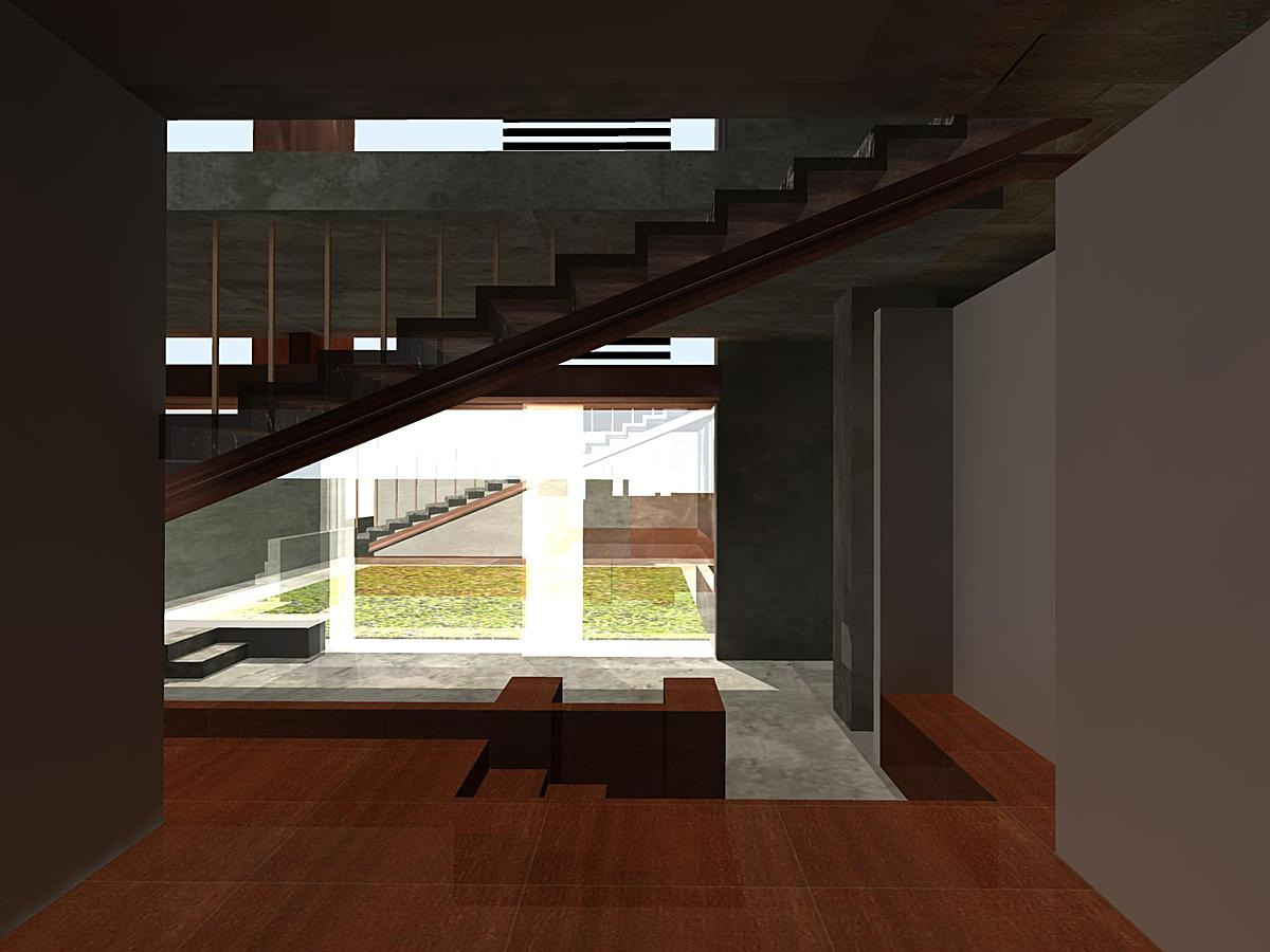 Ground Level interior rendering