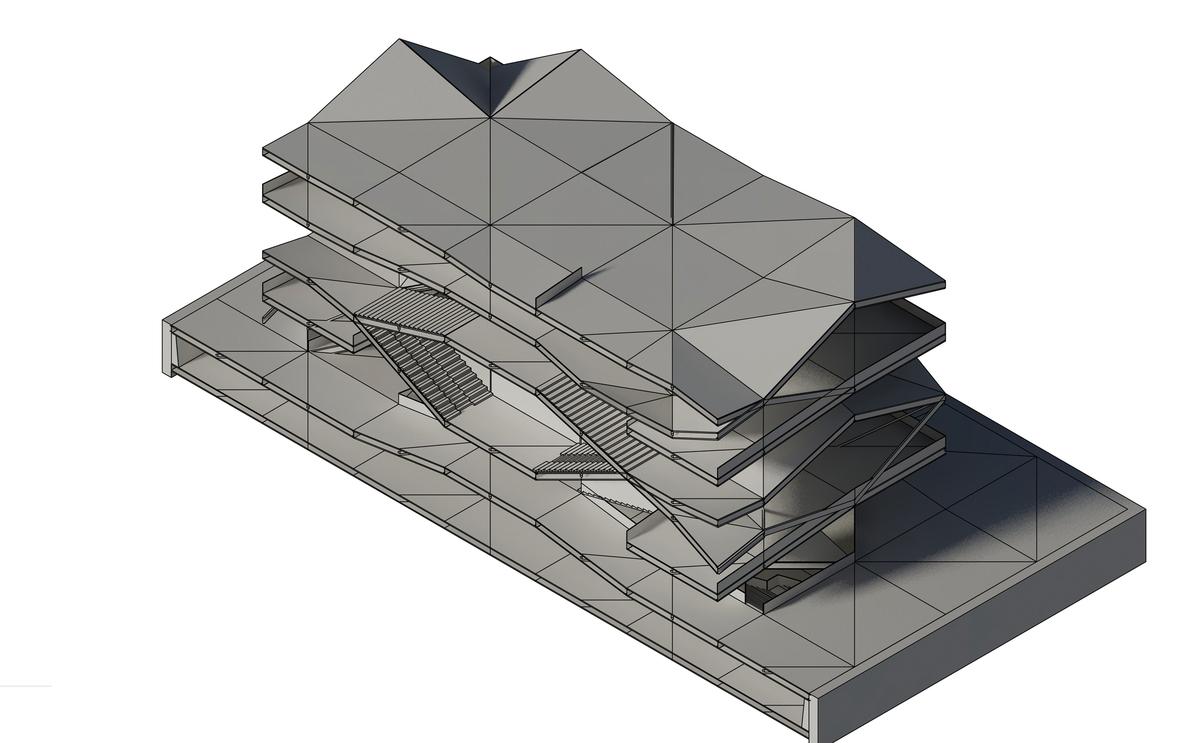Axonometric 3D section