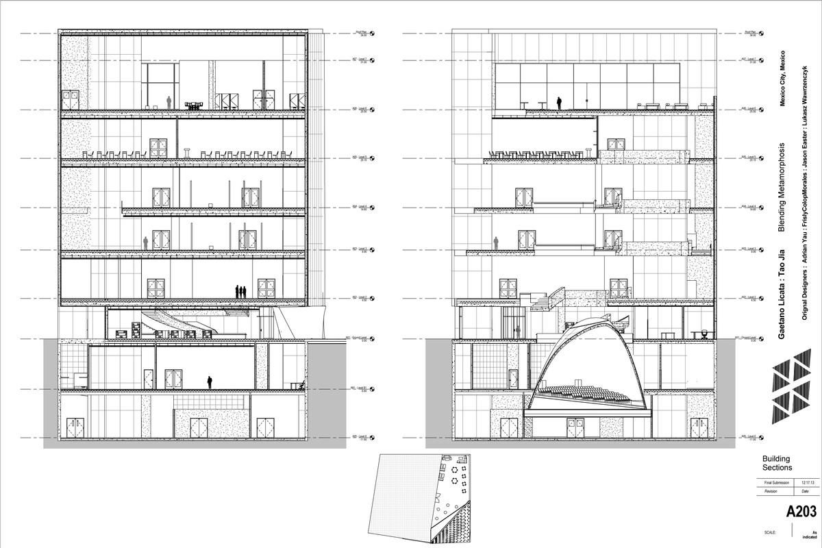Curtain Wall Floor Plan · Blending Metamorphosis Gaetano Licata Archinect