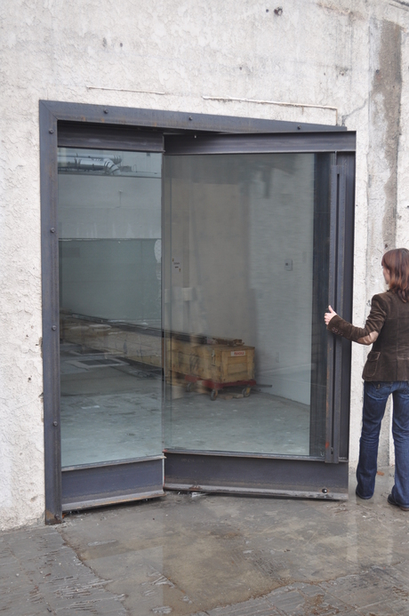 Awesome Pivot Door - Designed by TWInc - Fabricated by Breaform Design via Tima Bell.