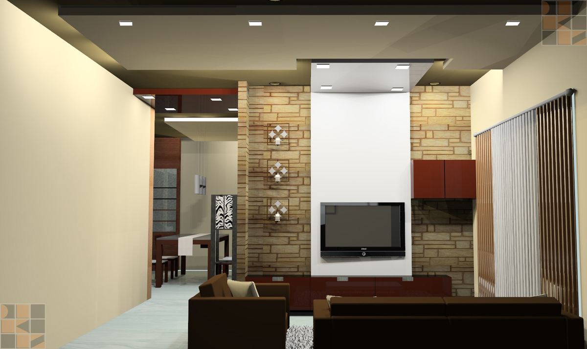 Residential interior design for mrs brindha srinivasan at for Interior wall designs india