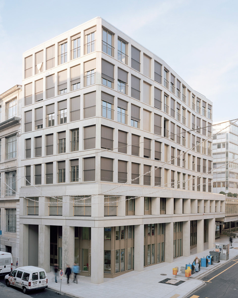 Urban housing and crèche, Geneva, Switzerland - Sergison Bates Architects with Jean-Paul Jaccaud Architectes (Photo: Alain Grandchamp)