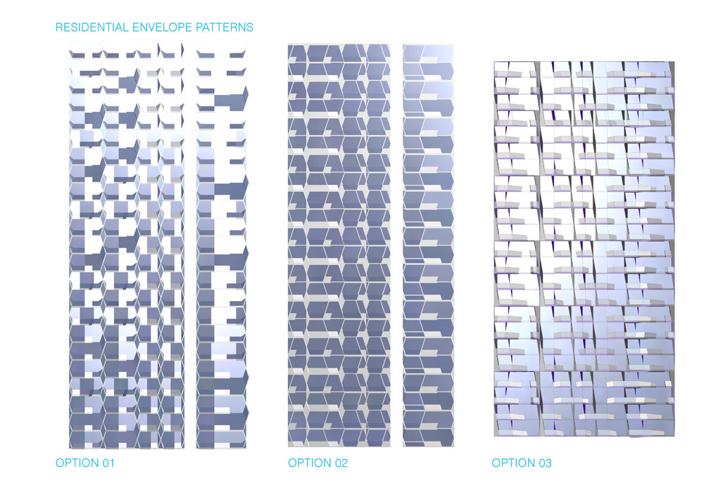 Concept diagram, residential envelope patterns (Image: UNStudio)