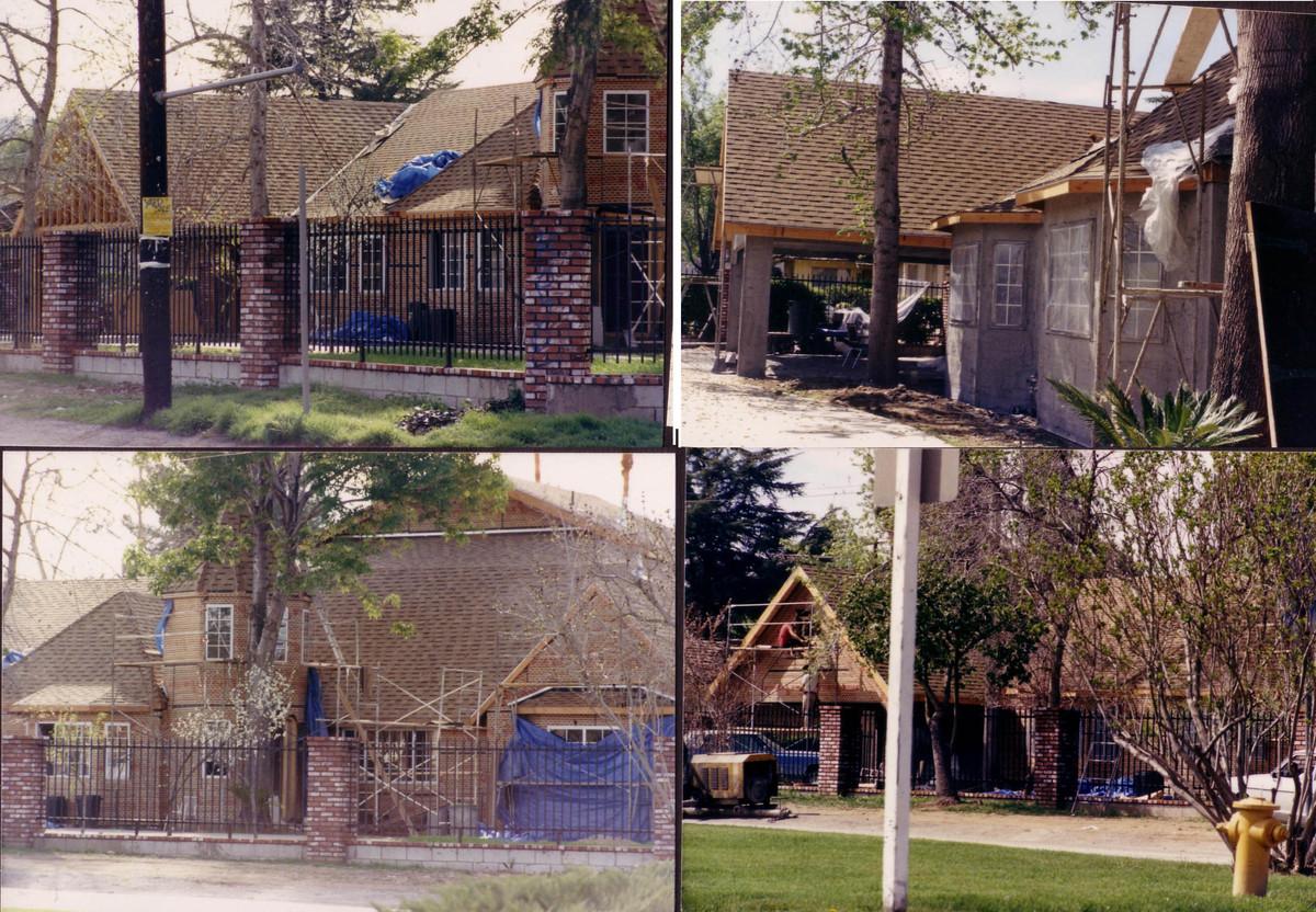 House construction pics. Woodland Hills, CA. Built
