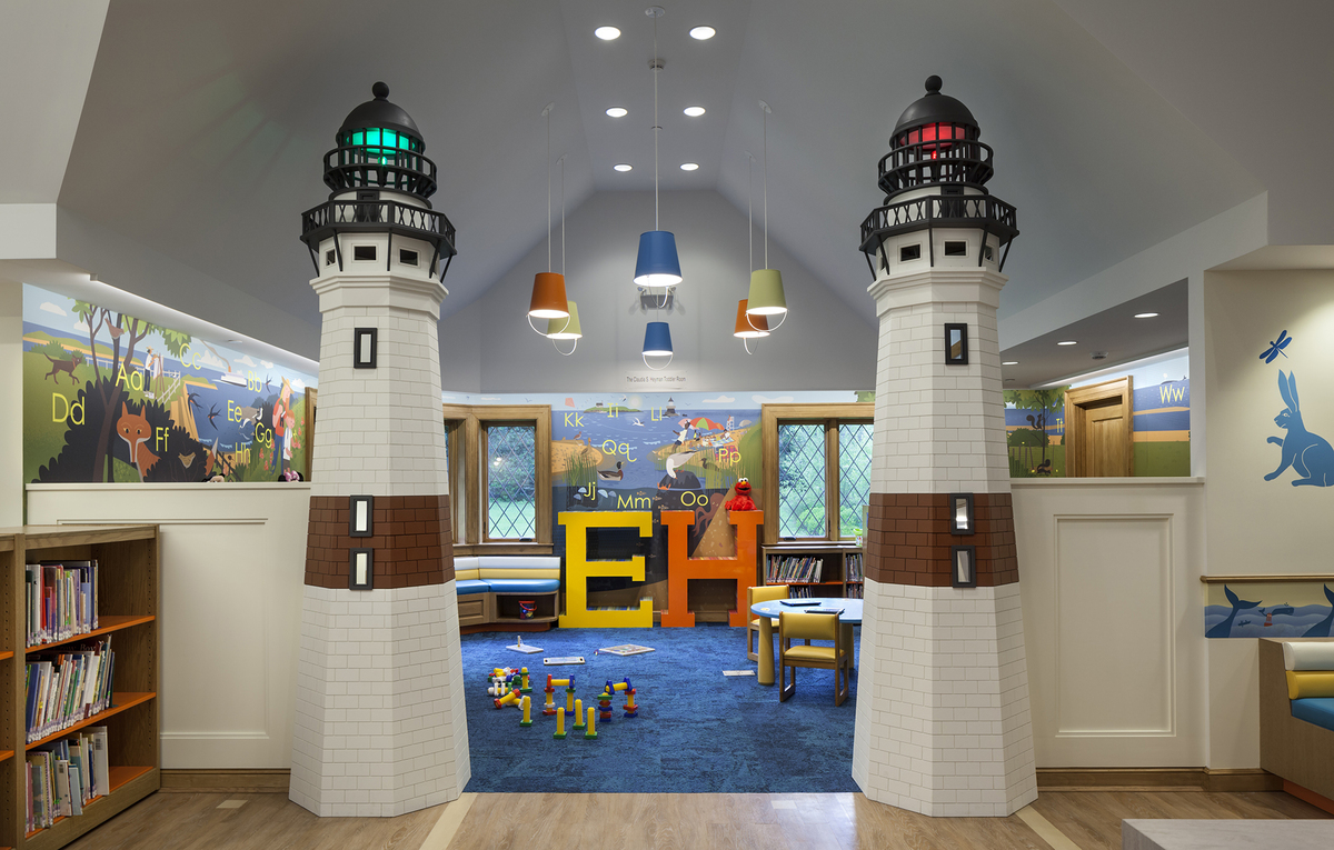 Children 39 s reading room at the east hampton public library for Reading room interior design
