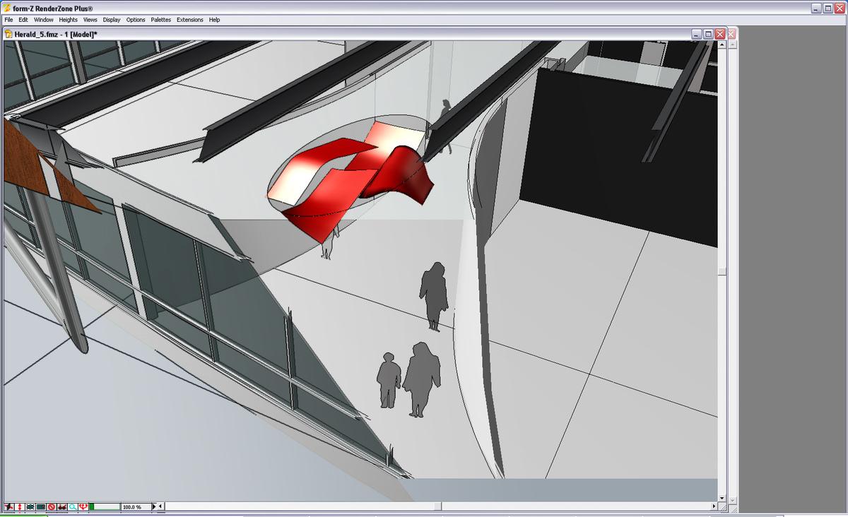 Ceiling sculpture: design study