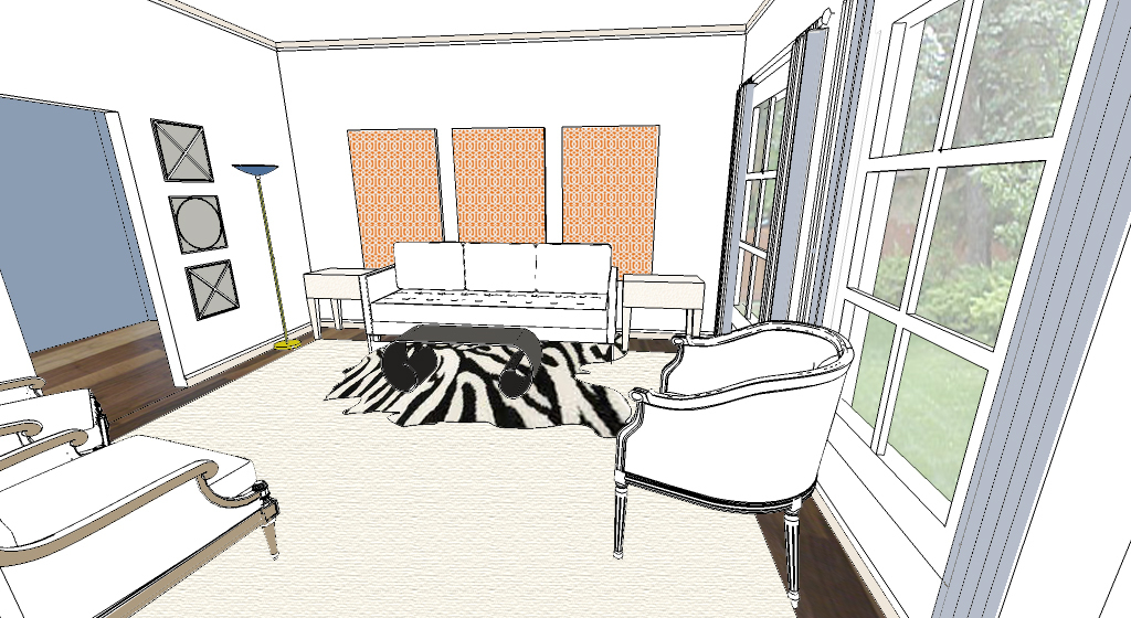 Quick Color Rendering of Living Room