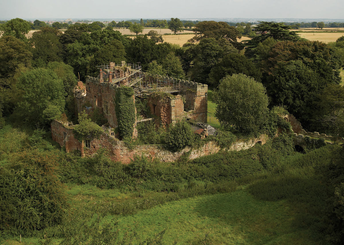 Astley Castle before construction started. Photo: Landmark Trust.