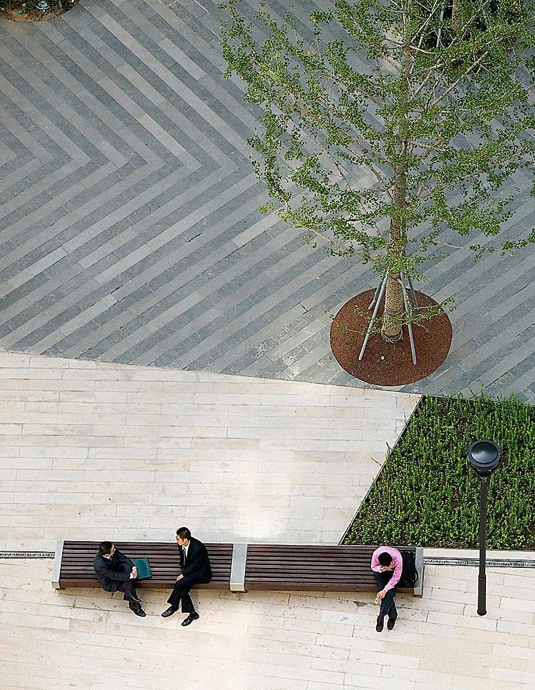 Gubei Pedestrian Promenade, Shanghai, China; Photographer: Tom Fox