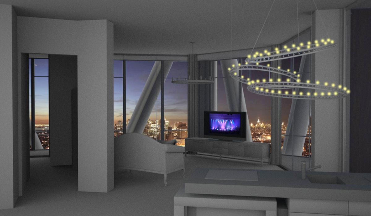 Interior Night rendering