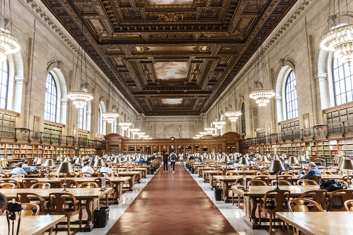 The Rose Main Reading Room, facing south. Copyright by Jiahui Huang.
