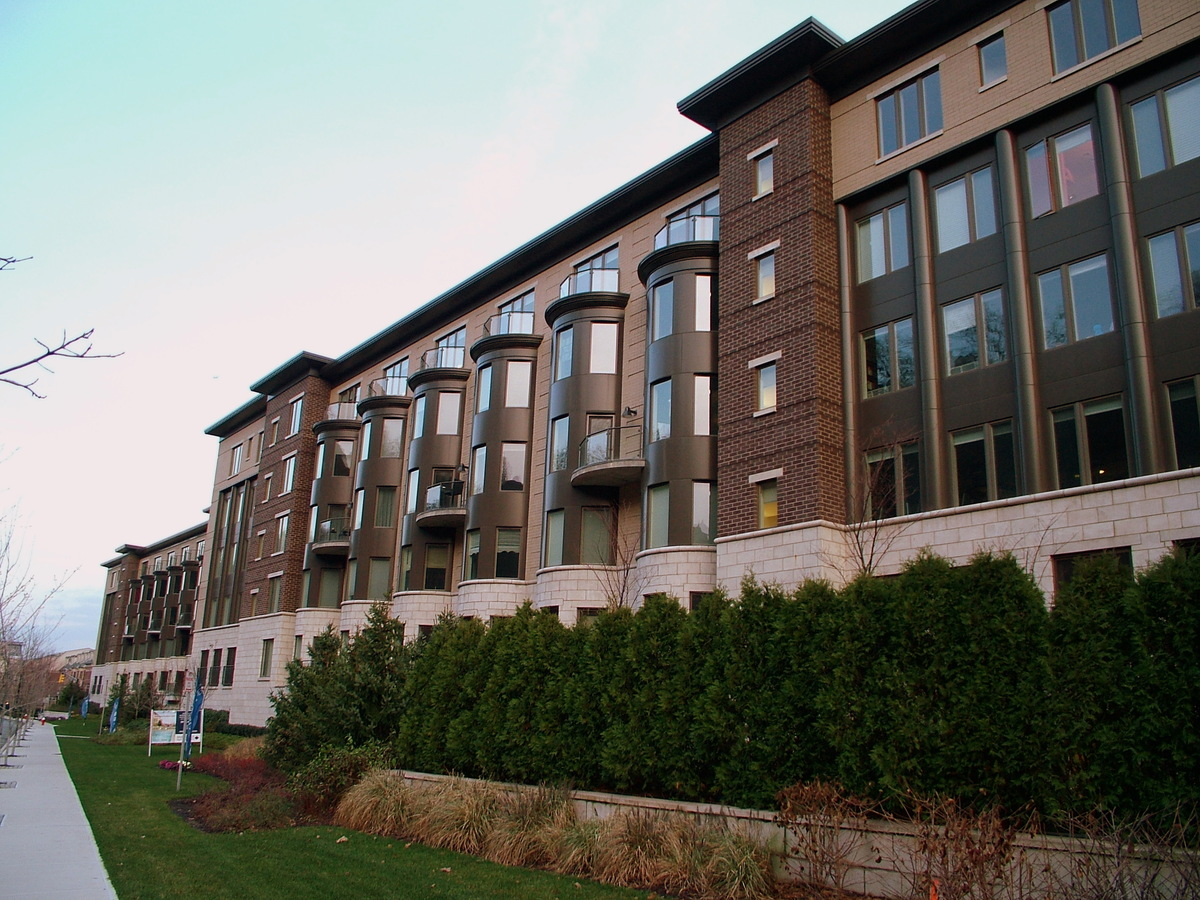 WEST SIDE VIEW OF TYPICAL CONDOMINIUM BUILDING
