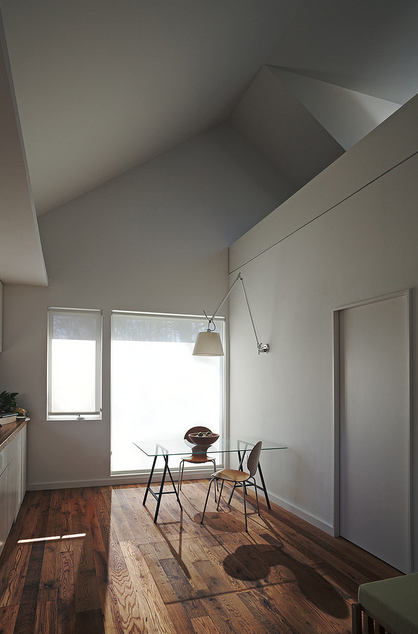 spatial composition - the interior space of the house departs from the original