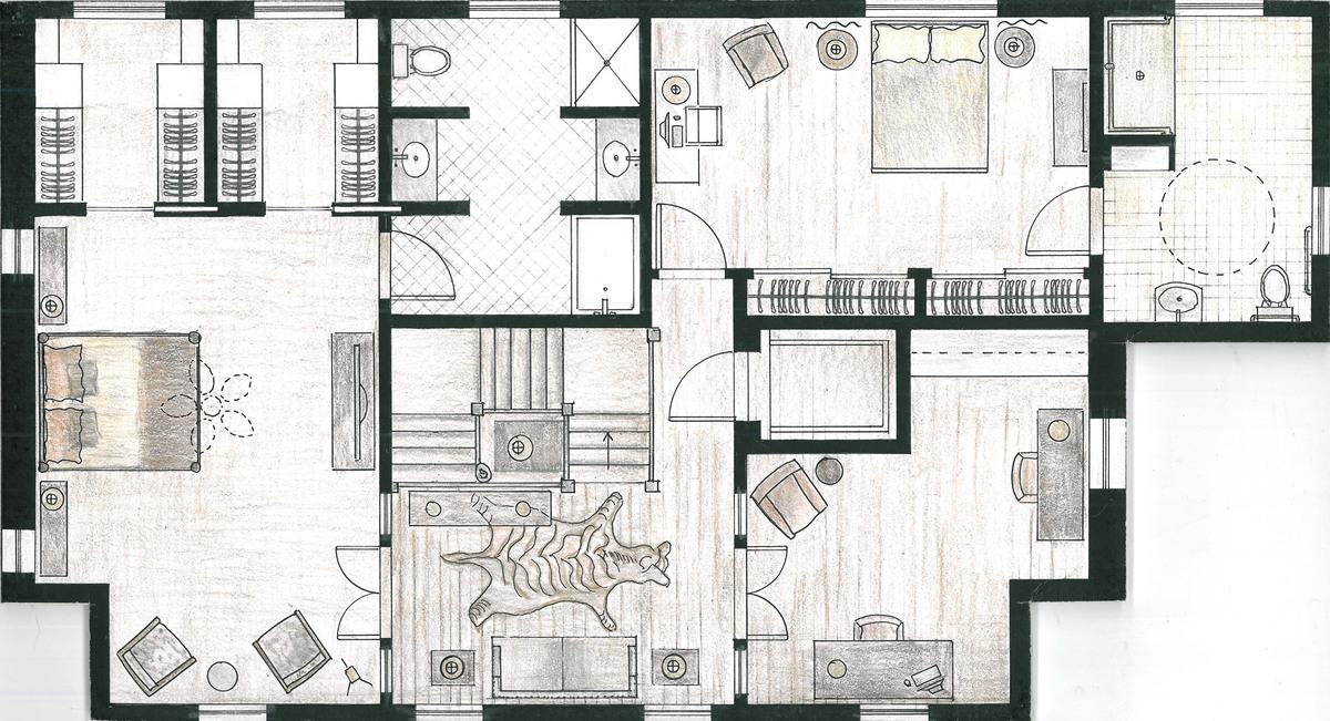 Residential beach bungalow frederica monaco interior for Beach bungalow plans