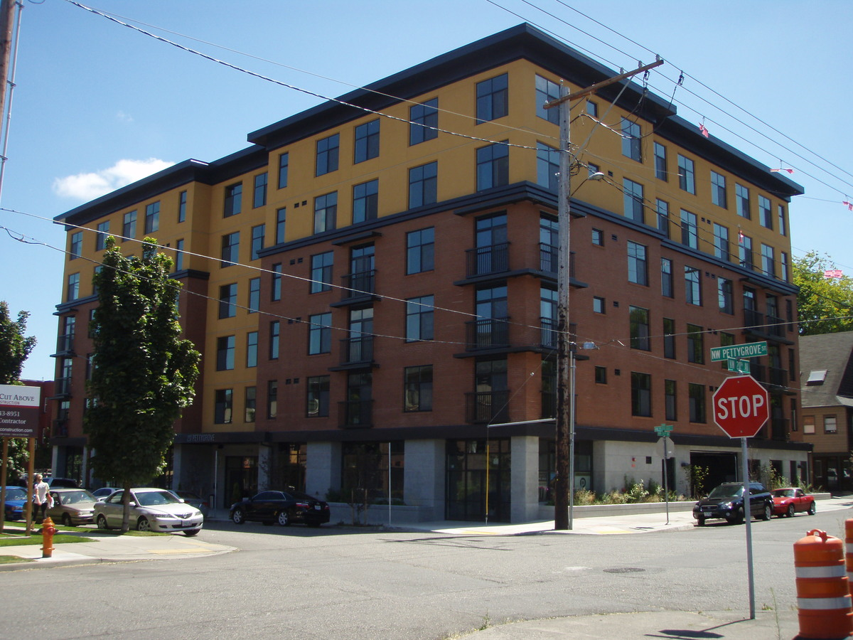 20 Pettygrove - 90 unit urban housing project with ground floor parking and retail
