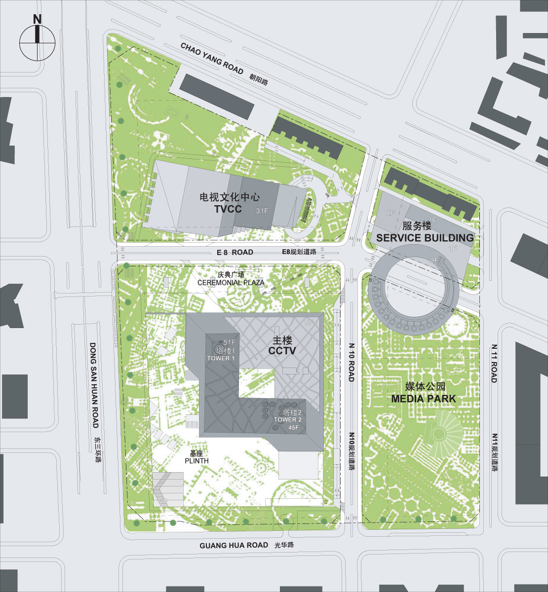 CCTV/OMA - Landscape Plan, Image courtesy of OMA