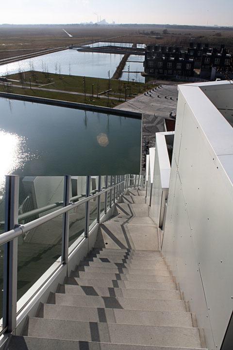 Side stairs of Bjarke Ingalls (BIG) 8 House