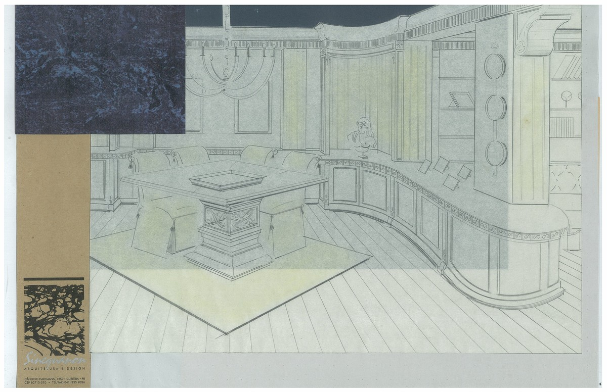Classic Style Dining | Interior Hand-Sketch