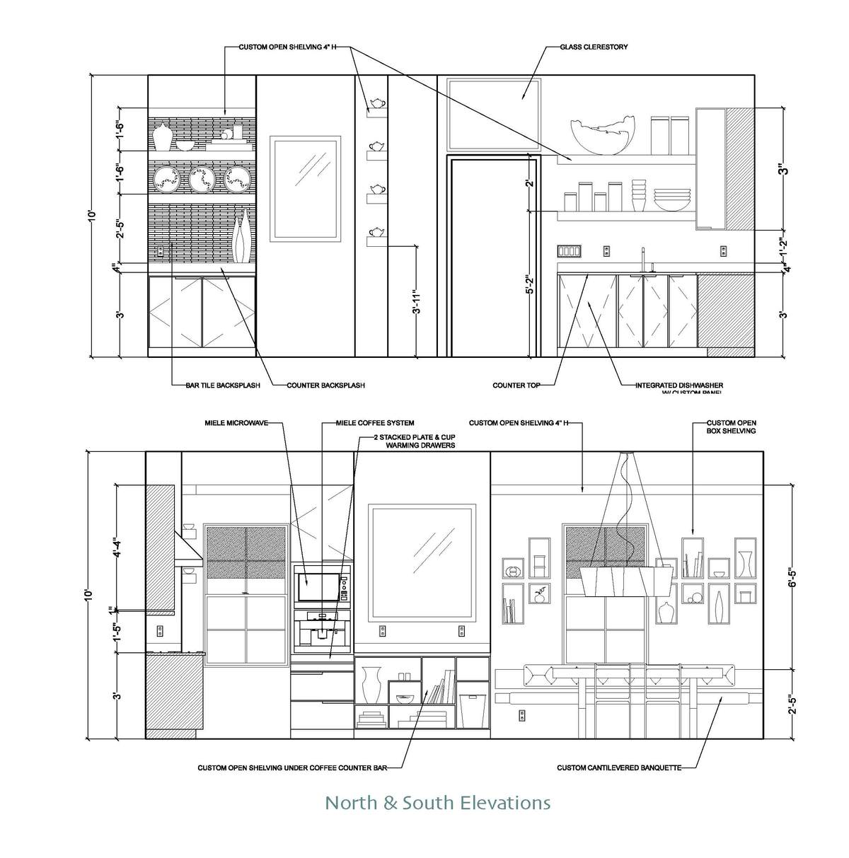 Chef 39 s kitchen natalie gioia archinect for Kitchen cabinets elevation