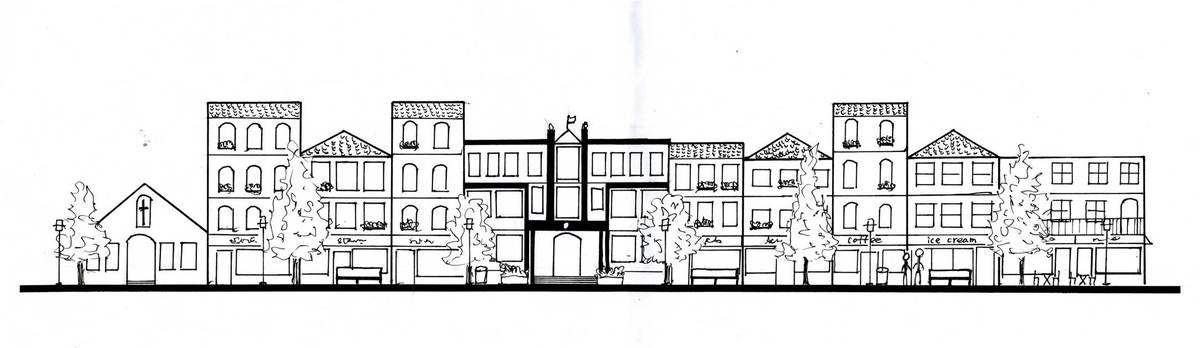Hand Drawing Section Plan Elevation. Hand Drawing Section Plan Elevation   Frances Hsia   Archinect