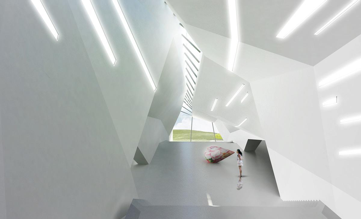 Interior atrium (Image: Patrick Tighe Architecture)