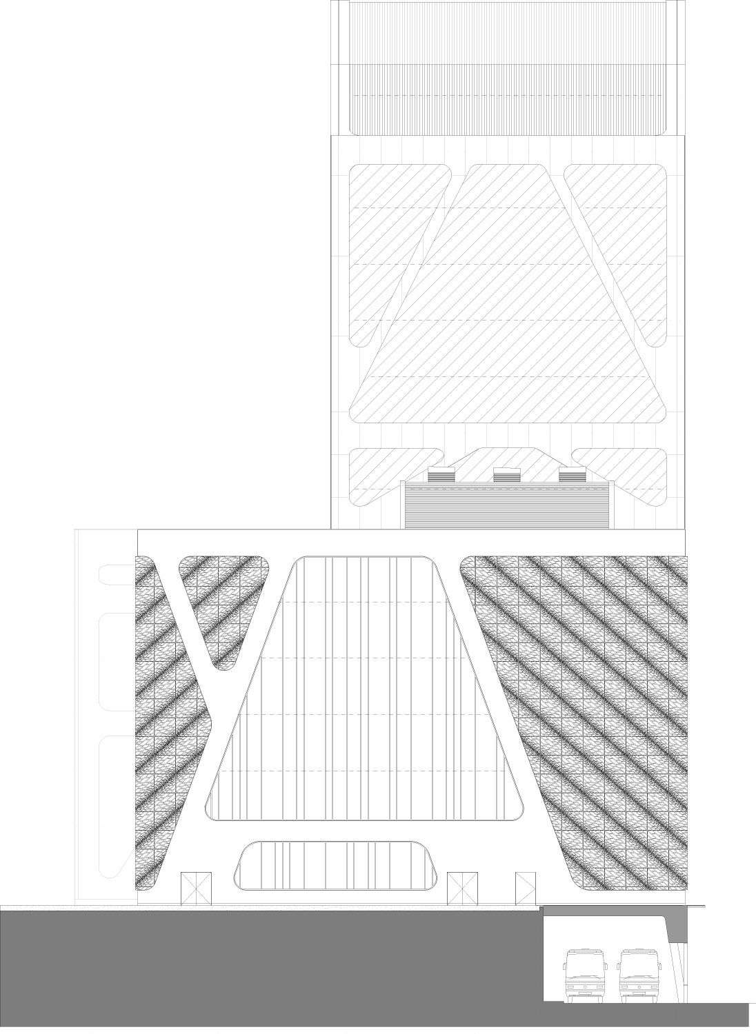 Facade side. Image courtesy of J. MAYER H. Architects