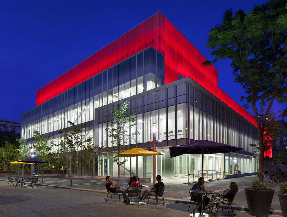 Ryerson Image Centre anchors the campus and is adjacent to a public square and pedestrian street