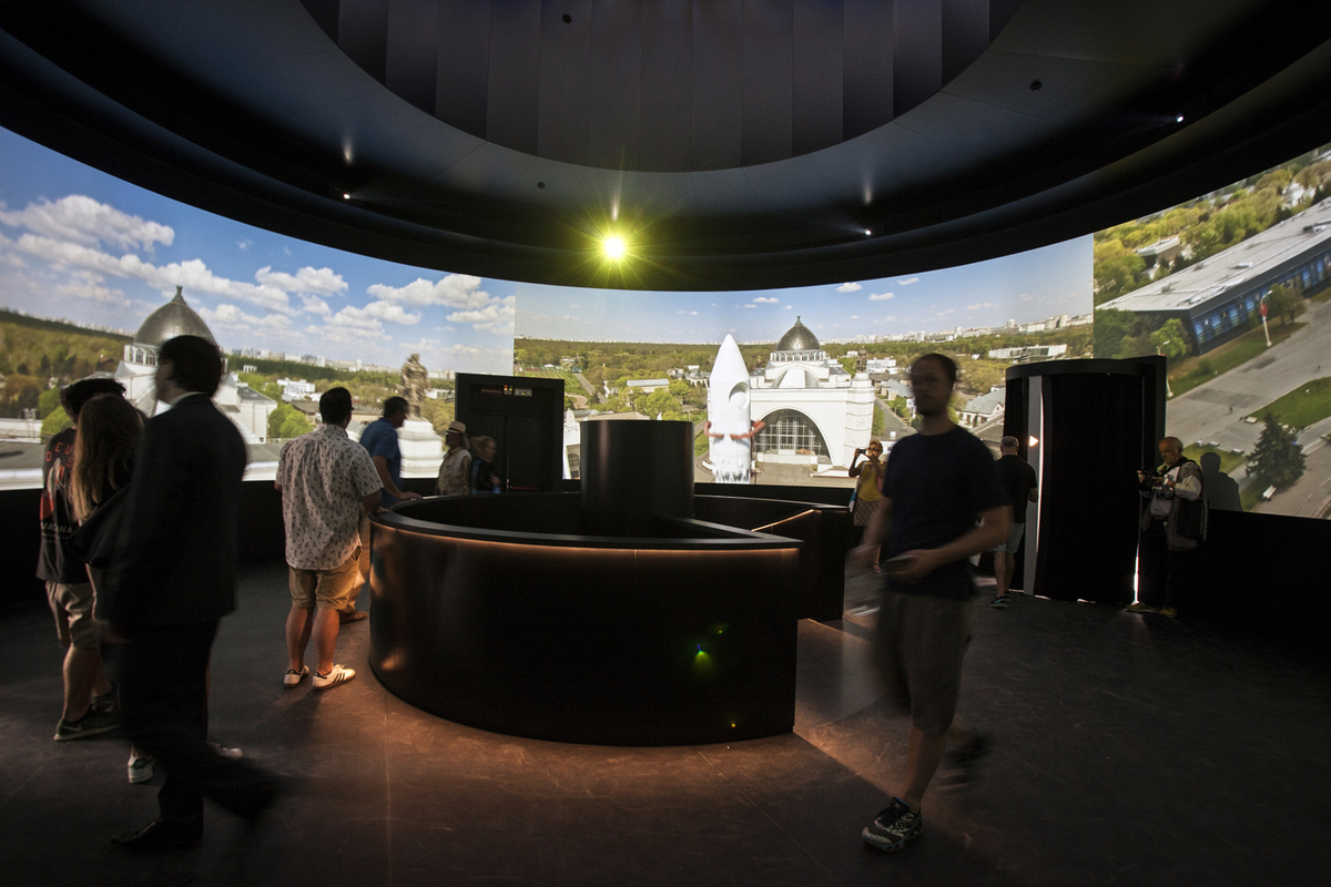 The Russian Pavilion at the 2016 Venice Biennale. Photo by Francesco Galli, courtesy of La Biennale di Venezia.