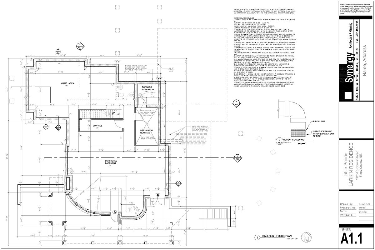 Basement - Synergy Architect + Planning
