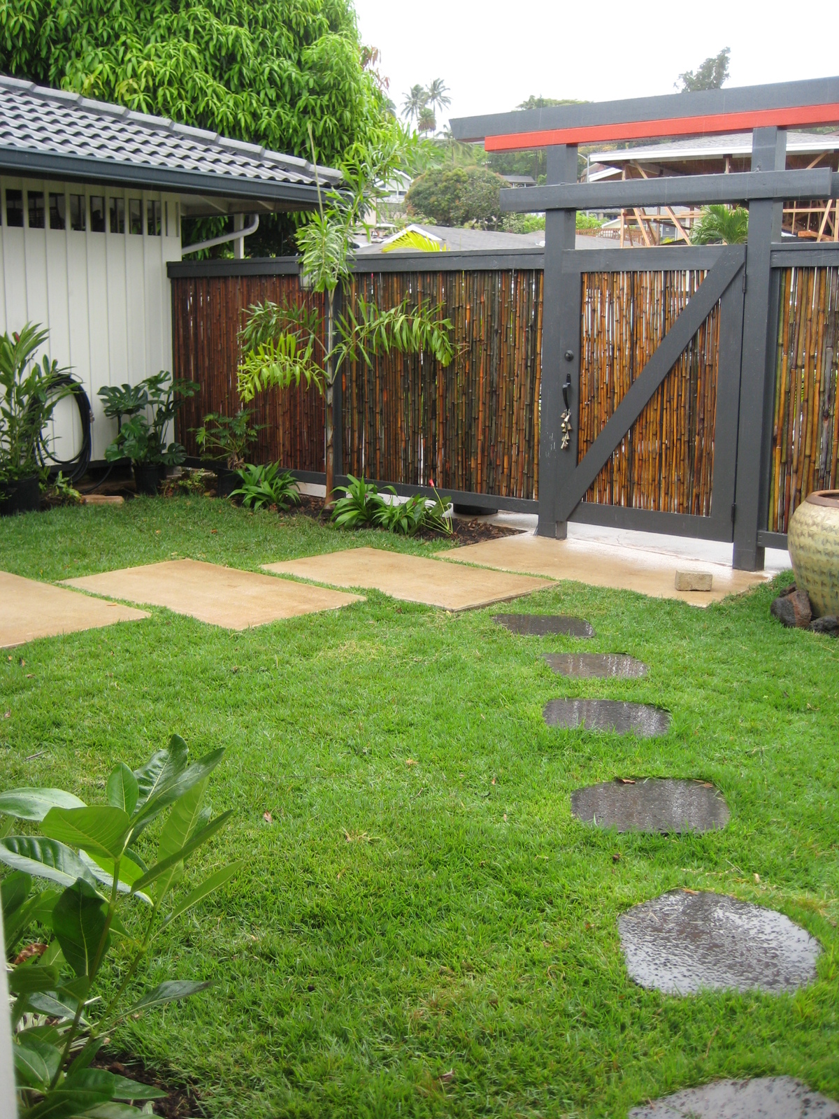 New interior courtyard