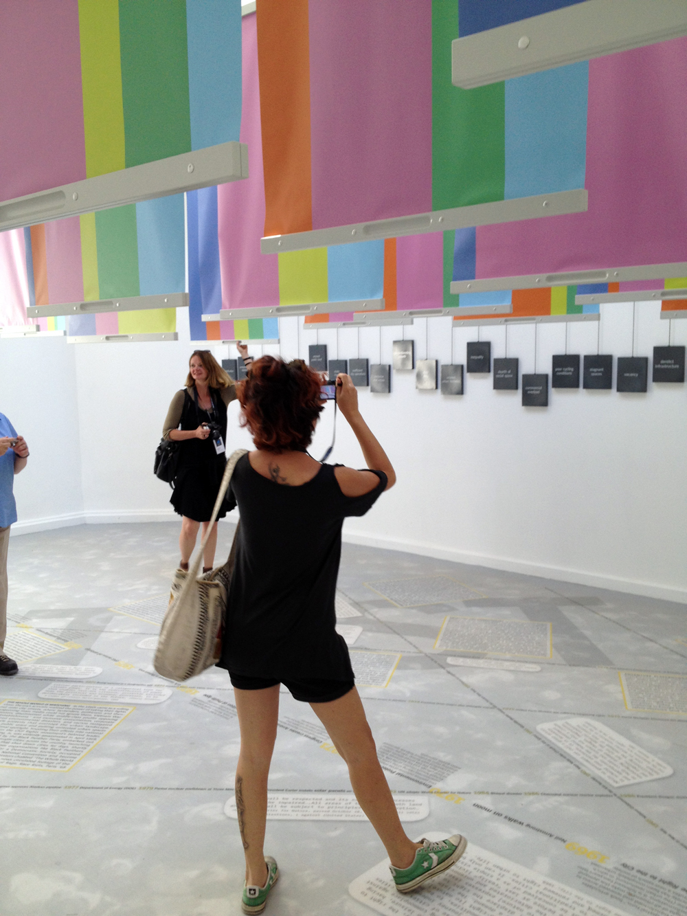 Spontaneous Interventions: Design Actions for the Common Good presents an ambitious cross-section of design activism throughout the United States. Designed by Freecell, M-A-D, and Interboro, this installation featured dual-sided pull-down posters which tied the individual entries with a...