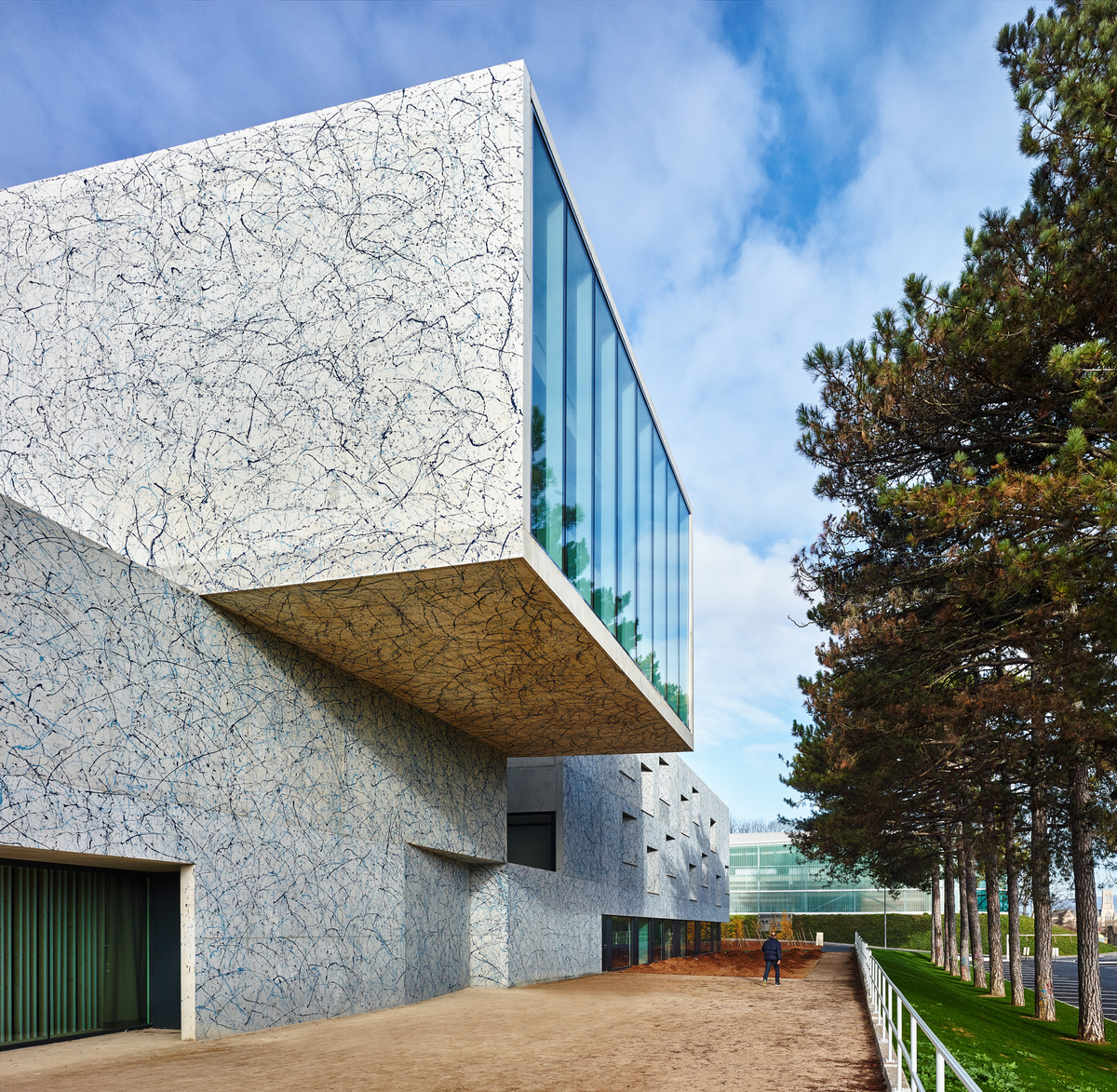 Conservatoire of music dance and dramatic arts belfort for Cement art design