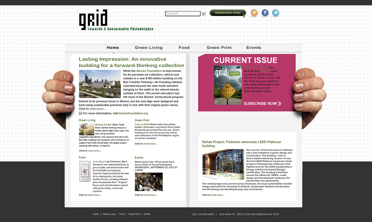 Website ReDesign for Grid Magazine | Mellyssa Diggs