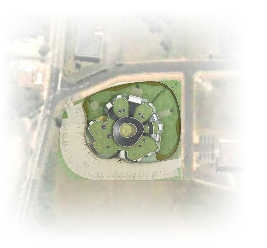 Site plan (Image courtesy of Paul Le Quernec & Michel Grasso)