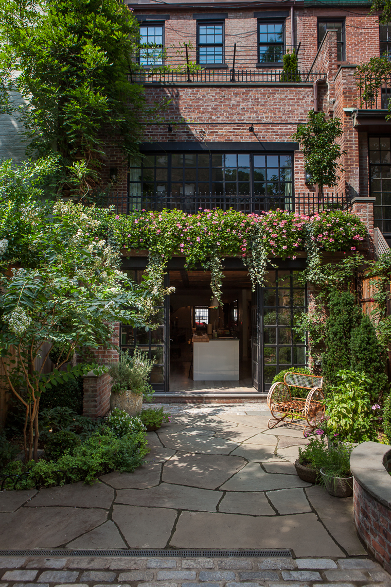 Manhattan townhouse susan wisniewski landscape llc for House backyard landscape