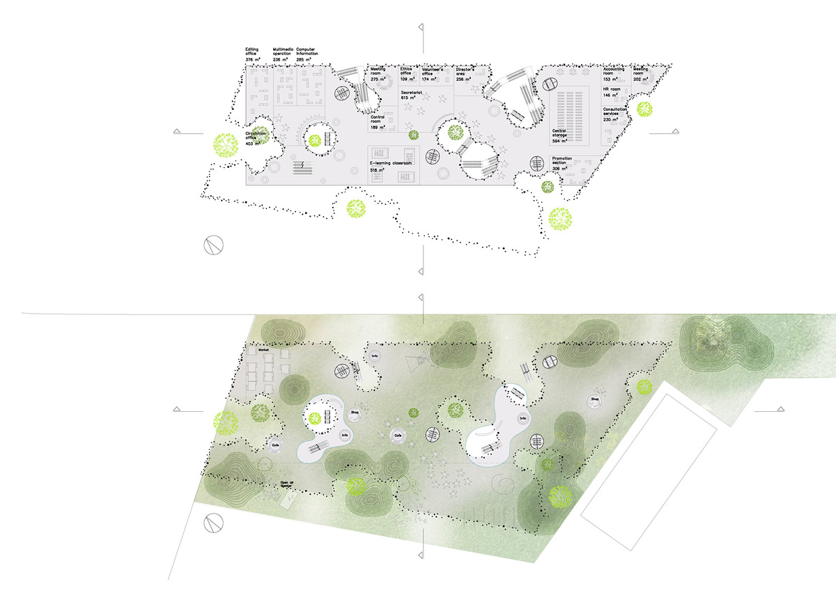 Plans (Image courtesy of Oxo architects + Nicolas Laisné architecte urbaniste)