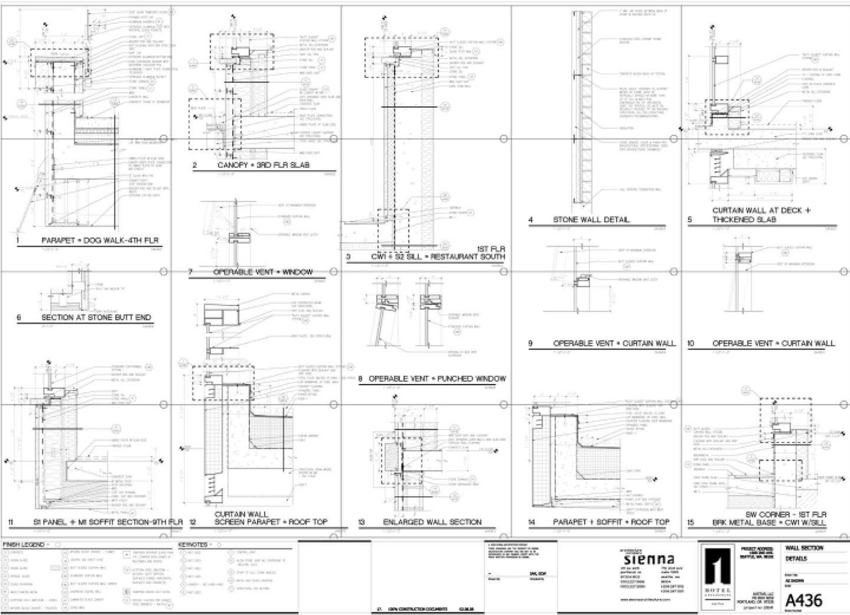 construction document details I created for the hotel