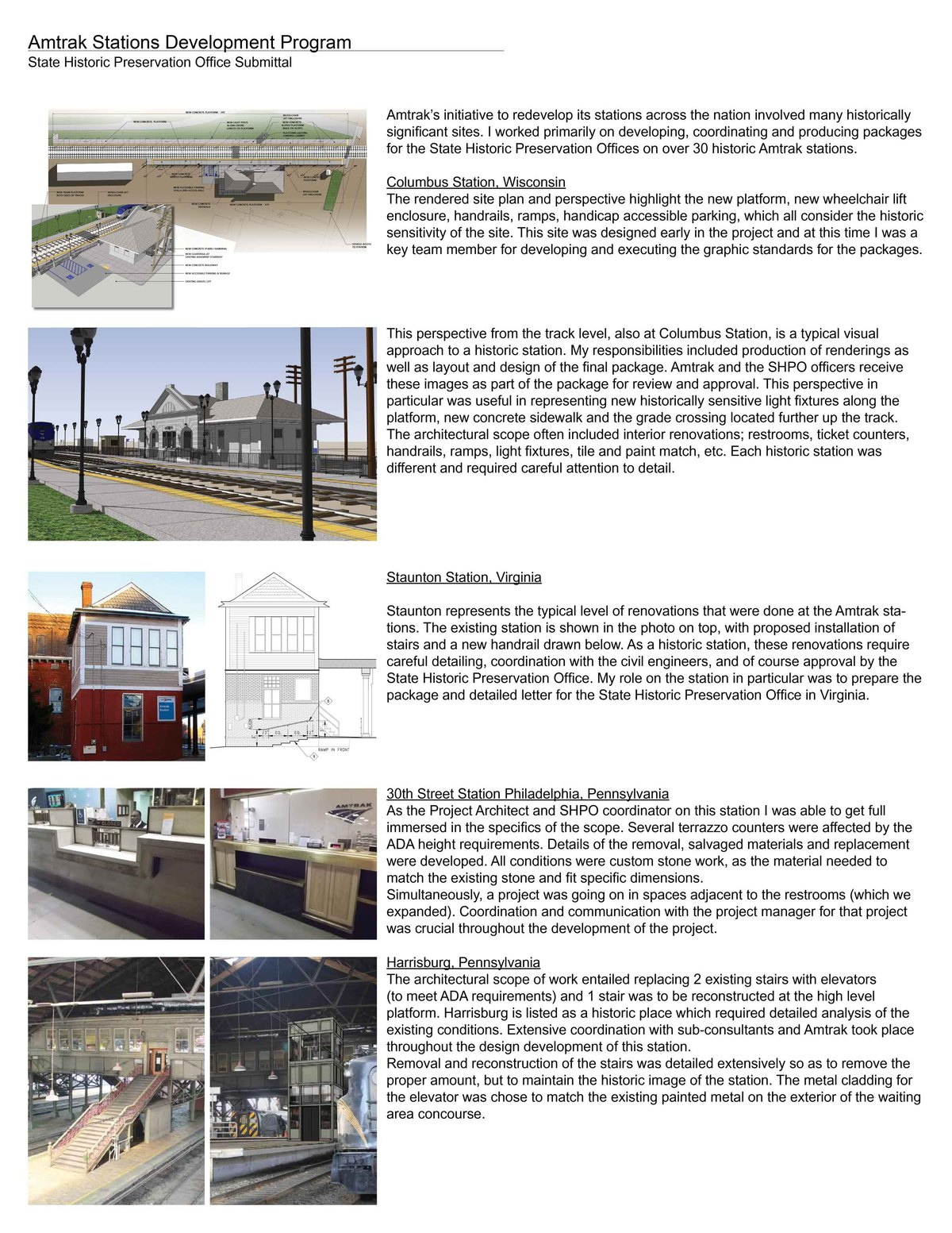 Amtrak Stations Development Program | Selected Stations