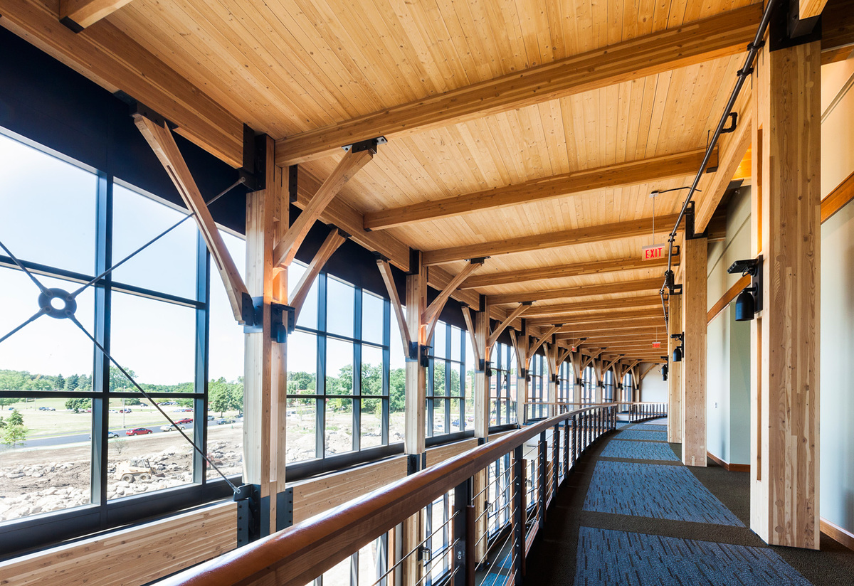 "Innovative Wood Engineering: Promega Feynman Center, ""The Crossroads"" in Madison, WA. Architect – Uihlein‐Wilson Architects, Inc. Photo © Aitor Sanchez/EwingCole"